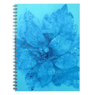 Light Blue Admiro Flower Design Notebook