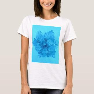 Light Blue Admiro Flower Design T-Shirt