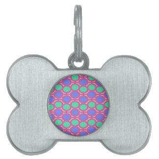 Light Blue and Aqua Hot Pink Eyelets Pet ID Tags