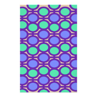 Light Blue and Aqua Purple Eyelets Stationery