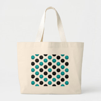 Light Blue and Black Basketball Pattern Canvas Bags