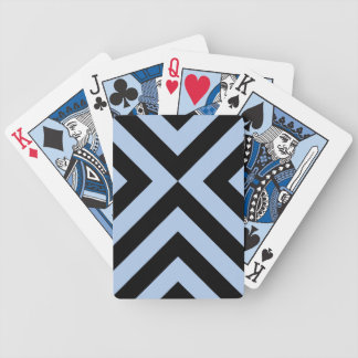 Light Blue and Black Chevrons Bicycle Playing Cards