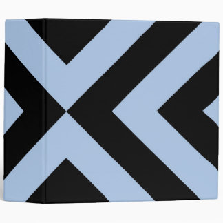 Light Blue and Black Chevrons Binders