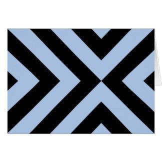 Light Blue and Black Chevrons Card