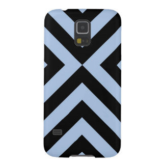 Light Blue and Black Chevrons Galaxy S5 Cover