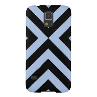 Light Blue and Black Chevrons Galaxy S5 Covers