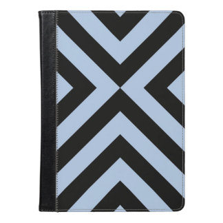 Light Blue And Black Chevrons Geometric Pattern iPad Air Case