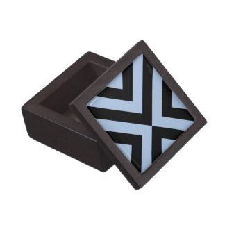 Light Blue and Black Chevrons Gift Box