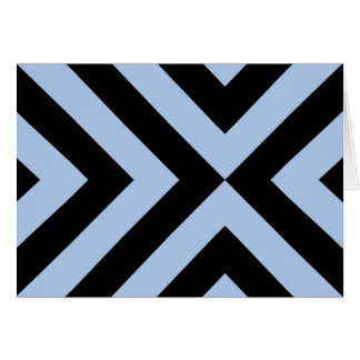 Light Blue and Black Chevrons Greeting Card