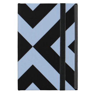 Light Blue and Black Chevrons iPad Mini Case