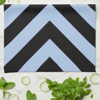 Light Blue and Black Chevrons Kitchen Towel