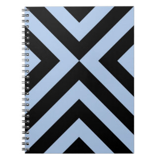 Light Blue and Black Chevrons Spiral Notebook