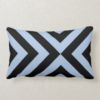 Light Blue and Black Chevrons Throw Pillows
