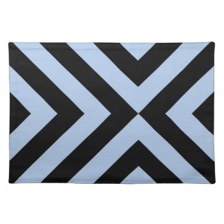 Light Blue and Black Chevrons Placemat