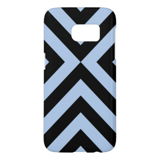 Light Blue and Black Chevrons Samsung Galaxy S7 Case