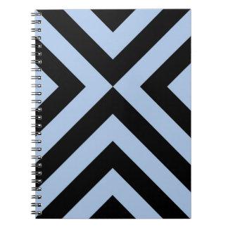 Light Blue and Black Chevrons Spiral Notebook