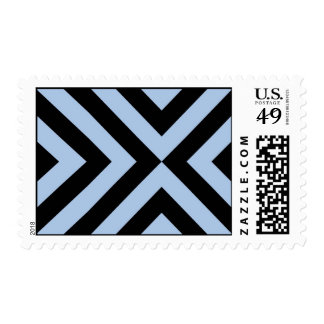 Light Blue and Black Chevrons Stamps