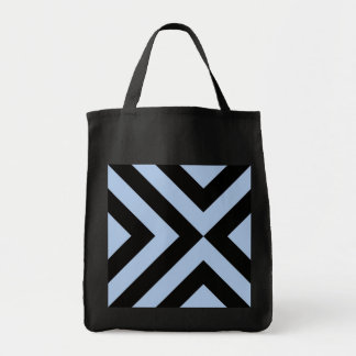 Light Blue and Black Chevrons Tote Bag