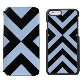 Light Blue And Black Chevrons Incipio Watson™ iPhone 6 Wallet Case