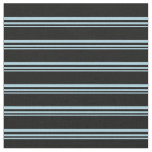 [ Thumbnail: Light Blue and Black Colored Lines Fabric ]