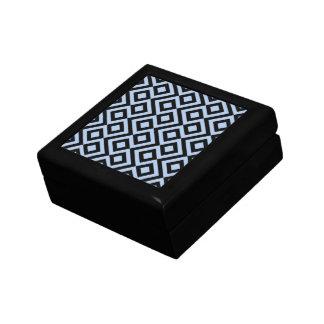 Light Blue And Black Meander Gift Box