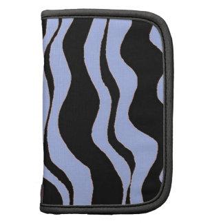 Light Blue and Black Zebra Stripes Organizer