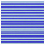 [ Thumbnail: Light Blue and Blue Lines/Stripes Pattern Fabric ]