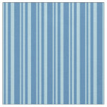 [ Thumbnail: Light Blue and Blue Pattern of Stripes Fabric ]