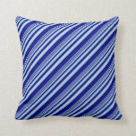 [ Thumbnail: Light Blue and Blue Pattern Throw Pillow ]