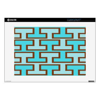 "Light Blue and Brown Bricks 15"" Laptop Skin"