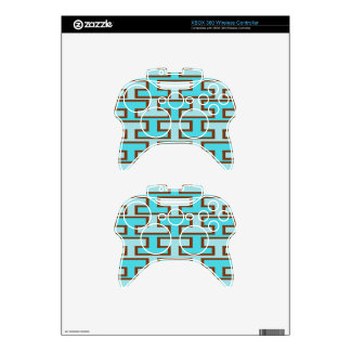 Light Blue and Brown Bricks Xbox 360 Controller Skins