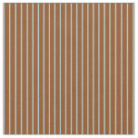 [ Thumbnail: Light Blue and Brown Colored Pattern of Stripes Fabric ]