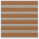 [ Thumbnail: Light Blue and Brown Colored Stripes Fabric ]