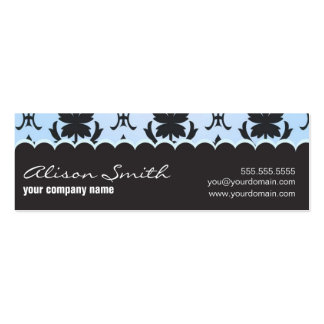 Light-blue and brown plantilla de tarjeta de visita