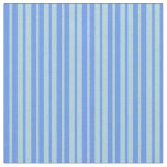 [ Thumbnail: Light Blue and Cornflower Blue Colored Lines Fabric ]