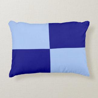 Light Blue and Dark Blue Rectangles Accent Pillow