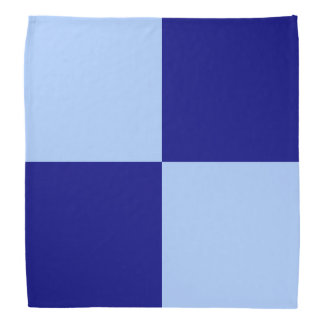 Light Blue and Dark Blue Rectangles Bandana