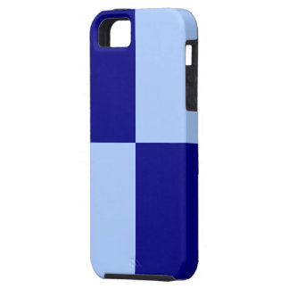 Light Blue and Dark Blue Rectangles iPhone 5 Cases