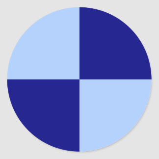 Light Blue and Dark Blue Rectangles Classic Round Sticker