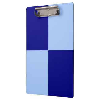 Light Blue and Dark Blue Rectangles Clipboards