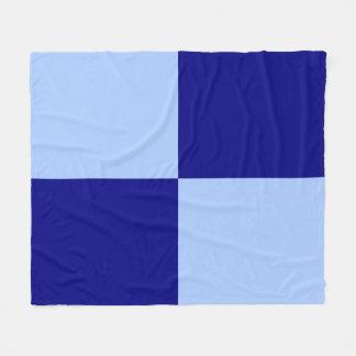 Light Blue and Dark Blue Rectangles Fleece Blanket