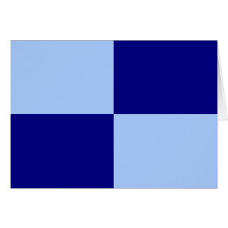 Light Blue and Dark Blue Rectangles Greeting Card