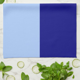 Light Blue and Dark Blue Rectangles Hand Towels