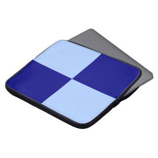 Light Blue and Dark Blue Rectangles Laptop Computer Sleeves