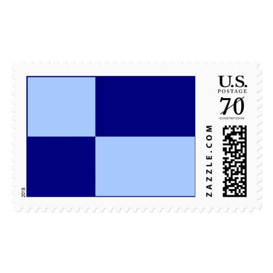 Light Blue and Dark Blue Rectangles – Large Postage