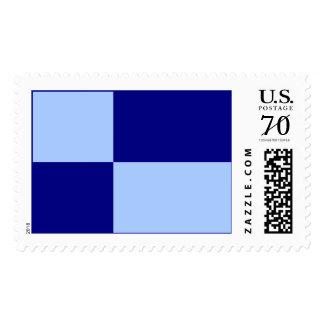 Light Blue and Dark Blue Rectangles – Large Postage Stamps