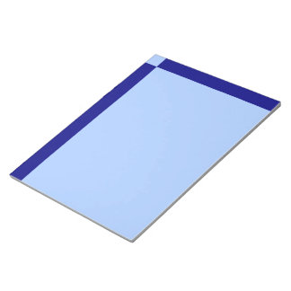 Light Blue and Dark Blue Rectangles Memo Note Pad