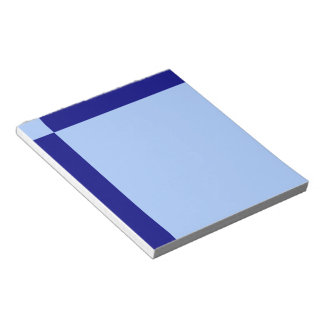 Light Blue and Dark Blue Rectangles Note Pad