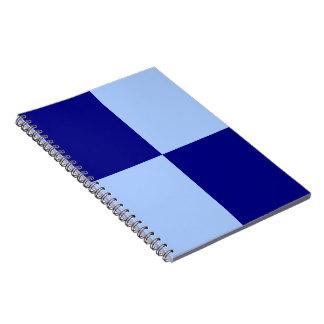 Light Blue and Dark Blue Rectangles Spiral Note Books