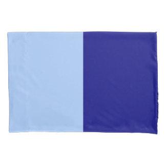Light Blue and Dark Blue Rectangles Pillowcase